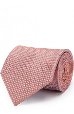 Шелковый галстук Brioni. Цвет: оранжевый