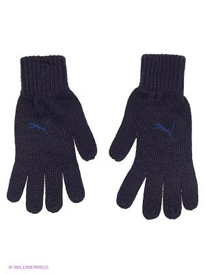 Перчатки Fundamentals Knit Gloves Puma. Цвет: черный, антрацитовый