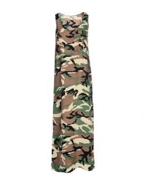 Длинное платье P.A.R.O.S.H.. Цвет: зеленый-милитари