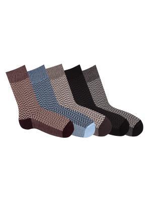 Носки, 5 пар Akos. Цвет: черный, бордовый, серый