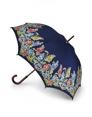 Зонт-трость Бордюр цветов  by Fulton Cath Kidston. Цвет: синий