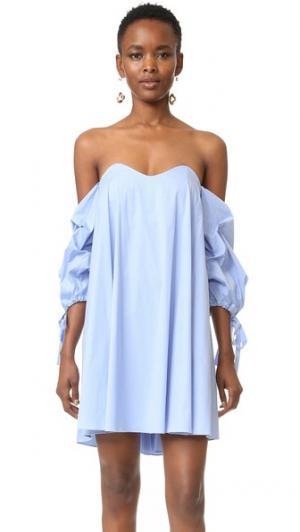 Платье Gabriella Caroline Constas. Цвет: парижская лазурь