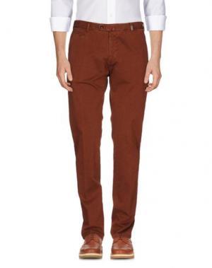 Повседневные брюки GIO ZUBON. Цвет: коричневый