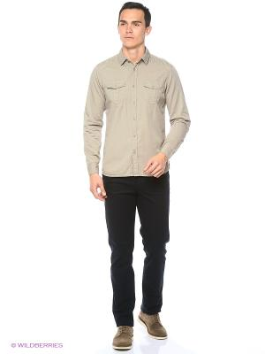 Рубашка Colin's. Цвет: серый, бежевый