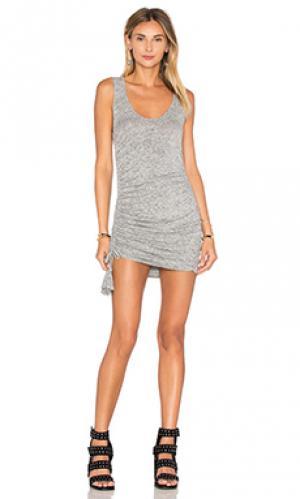 Мини платье koby Riller & Fount. Цвет: серый