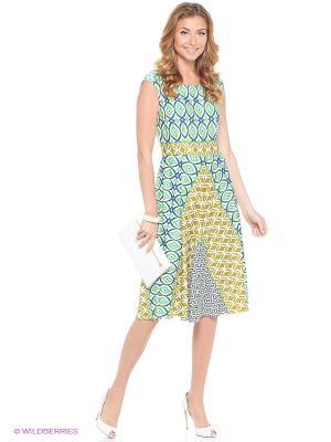 Платье London Times. Цвет: бирюзовый
