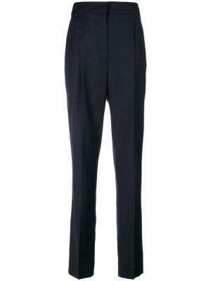 Contrast check trousers Cédric Charlier. Цвет: синий