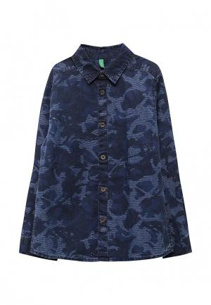 Рубашка джинсовая United Colors of Benetton. Цвет: синий