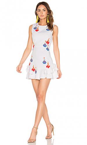 Платье lula Tanya Taylor. Цвет: белый