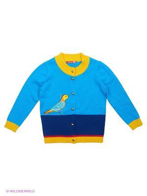 Кардиган PELICAN. Цвет: голубой, желтый, синий