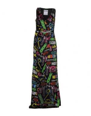 Длинное платье MOSCHINO. Цвет: черный