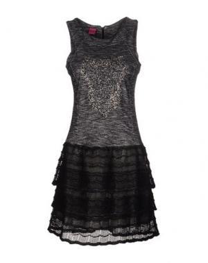 Короткое платье SAVE THE QUEEN. Цвет: черный