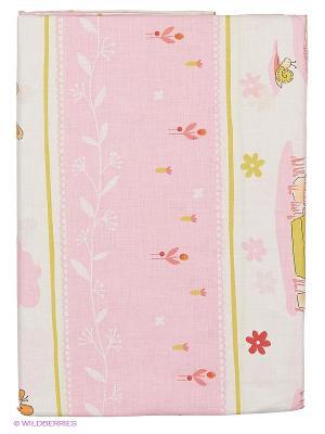 Комплект ПБ в кроватку,Зайчик садовод (роз) основа- зайчики Soni kids. Цвет: розовый