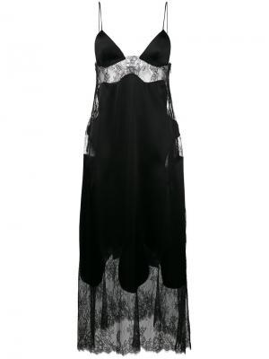 Платье без застежки с кружевными вставками Off-White. Цвет: чёрный