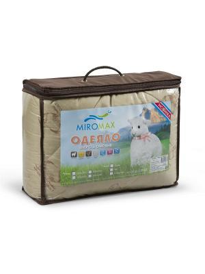 Одеяло Овечья шерсть в чемодане (облегченное) MIROMAX. Цвет: терракотовый, светло-коричневый, темно-бежевый
