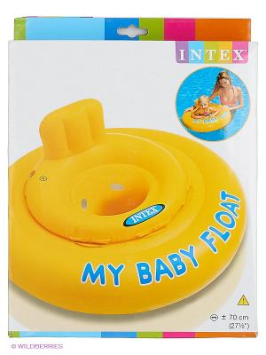 Надувной круг Мой маленький Intex. Цвет: желтый