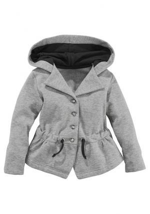 Куртка с начесом KIDOKI. Цвет: серый меланжевый