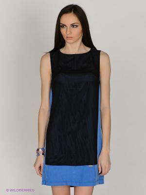 Платье MARY MEA. Цвет: синий, черный