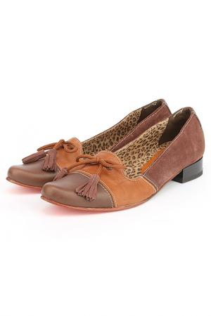 Туфли Bouton. Цвет: коричневый