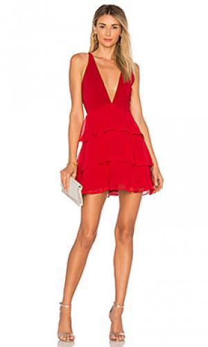 Мини платье hacienda Privacy Please. Цвет: красный