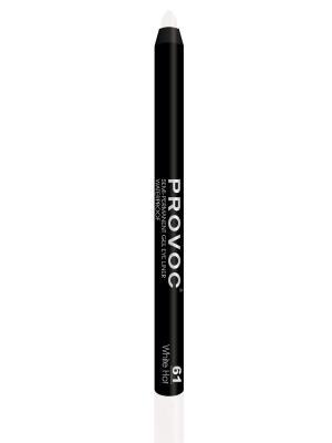 Gel Eye Liner 61 White Hot Гелевая подводка в карандаше для глаз (цв. белый) Provoc. Цвет: белый