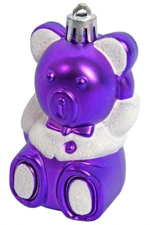Ёлочное украшение Мишка НОВОГОДНЯЯ СКАЗКА. Цвет: фиолетовый