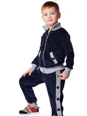 Велюровый костюм babyAngel. Цвет: темно-синий