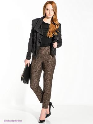 Брюки Vero moda. Цвет: золотистый, черный