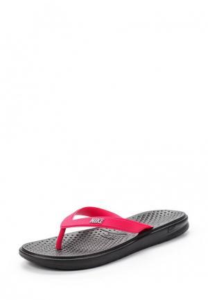 Сланцы Nike. Цвет: розовый