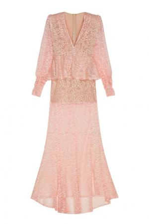 Кружевное платье Alessandra Rich. Цвет: розовый