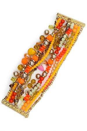 Браслет Taya. Цвет: золотой, оранжевый