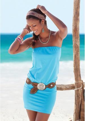 Пляжное платье-бандо Buffalo London. Цвет: бирюзовый