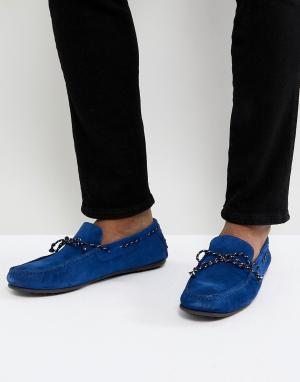 Selected Homme Замшевые мокасины. Цвет: синий