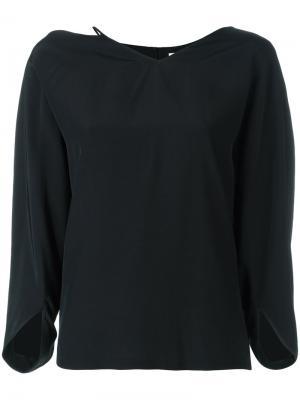 Блузка со шнурком у шеи Chalayan. Цвет: чёрный