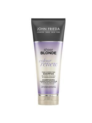 Шампунь для восстановления и поддержания оттенка осветленных волос Sheer Blonde Сolour Renew, 250 мл John Frieda. Цвет: сиреневый