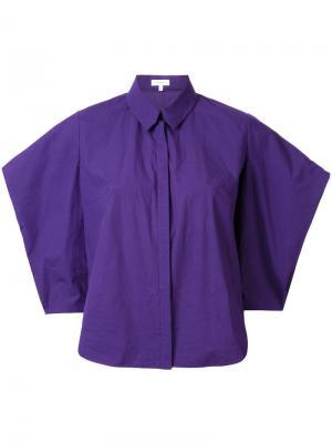 Рубашка с короткими рукавами Delpozo. Цвет: розовый и фиолетовый