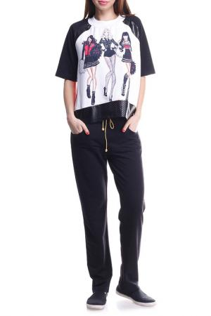 Костюм: кофта, брюки Majaly. Цвет: черный, белый, красный