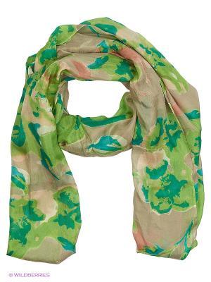 Палантин MICHEL KATANA`. Цвет: зеленый, бежевый, салатовый