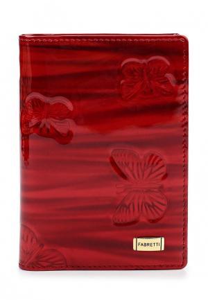 Обложка для документов Fabretti. Цвет: красный