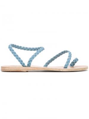 Джинсовые сандалии Eleftheria Ancient Greek Sandals. Цвет: синий