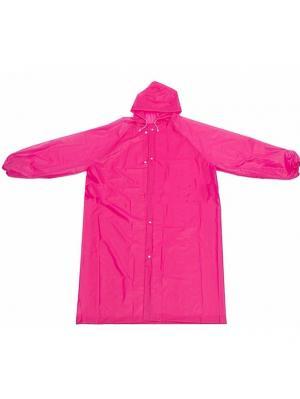 Дождевик виниловый, на кнопках, с капюшоном, розовый Радужки. Цвет: розовый