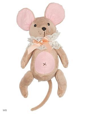 Мышка шарнирная Вaby mouse Неженка в жабо Fluffy Family. Цвет: розовый, серый