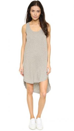 Платье без рукавов с овально-вырезанным низом Wilt. Цвет: серый меланж