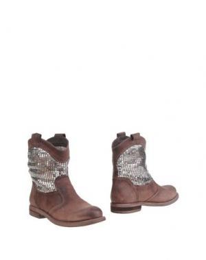 Полусапоги и высокие ботинки FABBRICA MORICHETTI. Цвет: баклажанный
