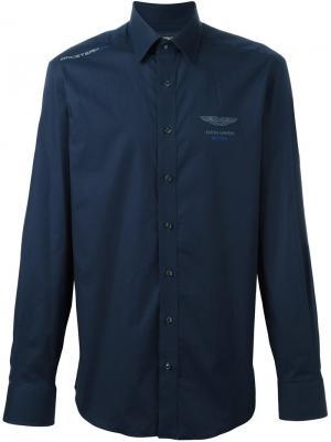 Рубашка с принтом Hackett. Цвет: синий