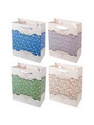 Пакет подарочный бумажный KONONO. Цвет: серый