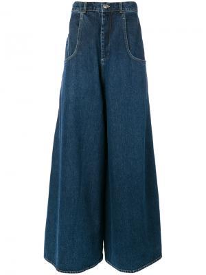 Широкие джинсы Martine Rose. Цвет: синий