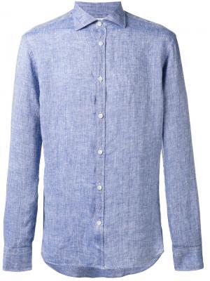 Тканая рубашка Danolis. Цвет: синий