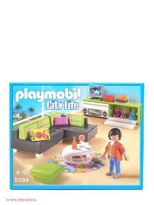 Особняки Современная гостиная Playmobil. Цвет: голубой