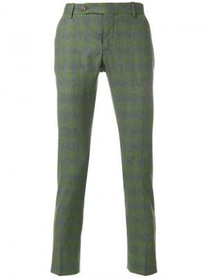 Клетчатые брюки скинни Entre Amis. Цвет: серый